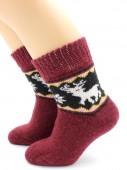 Носки Hobby Line HOBBY 7639 носки детские ангора, махра внутри, скандинавия, олени