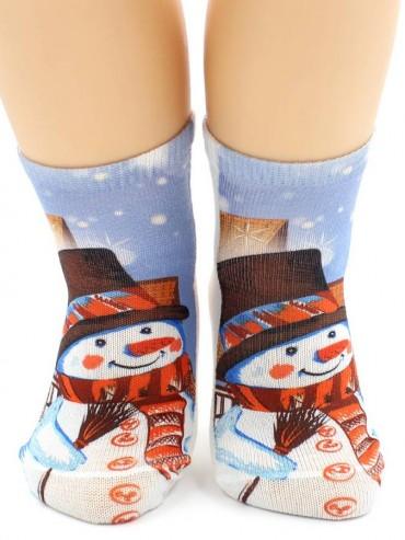 Носки Hobby Line HOBBY 3Д101-1 носки детские Снеговик