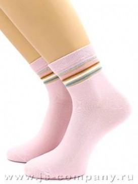 Носки Hobby Line HOBBY 2033 носки стеклянные высокие, цветная полосочка широкая и узкая