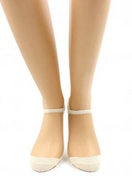 Носки Hobby Line HOBBY S2012-31 стеклянные укороченные, телесная сетка