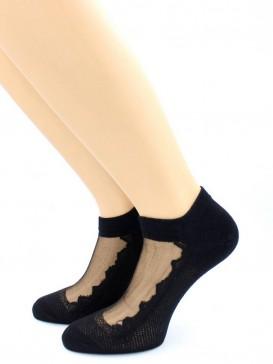 Носки Hobby Line HOBBY S2013-01 стеклянные укороченные, сеточка