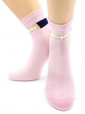 Носки Hobby Line HOBBY 2034 носки стеклянные высокие с люрексовой полоской