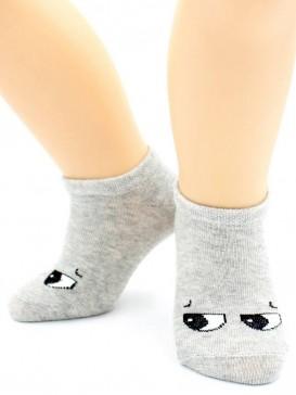 Носки Hobby Line HOBBY 3726 детские невидимые х/б, однотонные, глазки