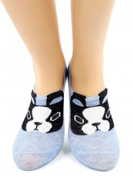 Носки Hobby Line HOBBY 17-01 носки невидимые женские х/б, собачки, ассорти