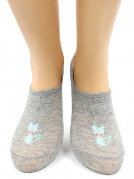 Носки Hobby Line HOBBY 17-22-1 носки невидимые женские х/б, стильная кошечка
