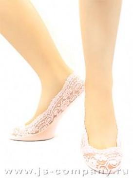 Носки Hobby Line HOBBY 60 носки невидимые женские х/б, с гелем внутри, гипюр