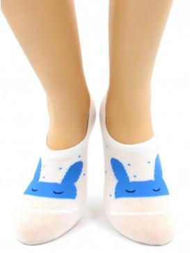 Носки Hobby Line HOBBY 17-10 носки невидимые женские х/б, зайчики, ассорти