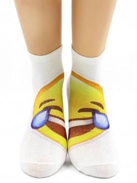 Носки Hobby Line HOBBY 518 носки укороченные женские х/б, АБ, смайлик Слезы радости