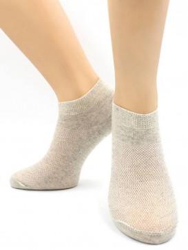 Носки Hobby Line HOBBY 564-1 носки укороченные женские х/б, однотонные, сеточка сверху