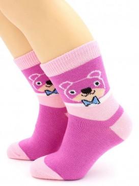 Носки Hobby Line HOBBY 3556 носки детские х/б, для девочек, Мишка
