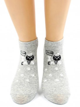 Носки Hobby Line HOBBY 529 укороченные женские х/б, I cats