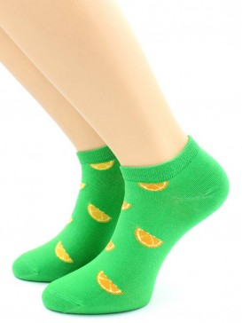 Носки Hobby Line HOBBY 530-07 носки укороченные женские х/б, Дольки апельсина