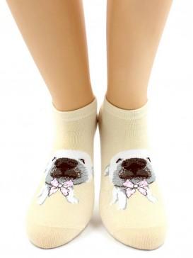 Носки Hobby Line HOBBY 531-01 носки укороченные женские х/б, Щенок