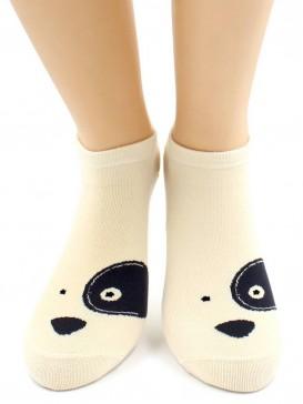 Носки Hobby Line HOBBY 531-02 носки укороченные женские х/б, Пес Барбос