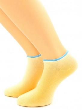 Носки Hobby Line HOBBY 561-14 носки укороченные женские х/б, телесный с голубой резинкой