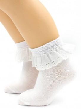 Носки Hobby Line HOBBY 857 детские , ажурные с шитьем