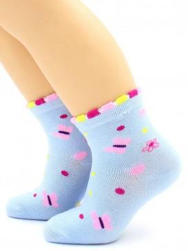 Носки Hobby Line HOBBY 125 носки детские сеточка х/б, цветочки и бабочки