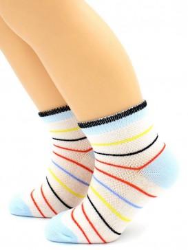 Носки Hobby Line HOBBY 128 носки детские сеточка х/б, полоска