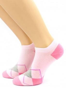 Носки Hobby Line HOBBY 535-5 носки укороченные женские х/б, ромбики, ассорти