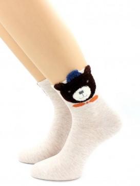 Носки Hobby Line HOBBY 3Д75-1 женские Пушистый Мишка 3Д