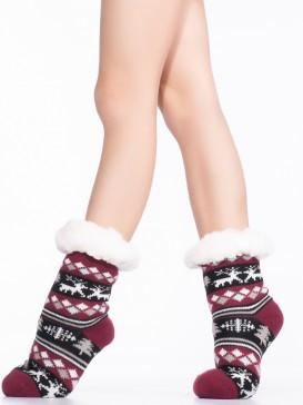 Носки Hobby Line HOBBY 30765 -1 детские носки с мехом внутри Олени