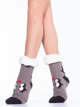 Носки Hobby Line HOBBY 30594 женские носки с мехом внутри Пингвины