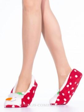 Носки Hobby Line HOBBY 38275-2 женские носки женские с мехом внутри Снеговик 3D