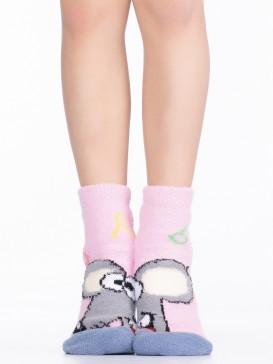 Носки Hobby Line HOBBY 3340-3 детские махровые пенка Мышка с буквами