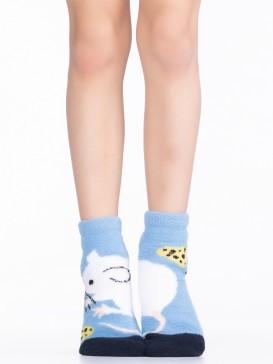 Носки Hobby Line HOBBY 3340-6 детские махровые пенка Мышка с сыром