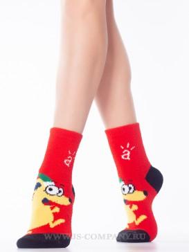 Носки Hobby Line HOBBY 2202-40-5 махровые-пенка новогодние Мышка Рождественский Эльф