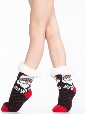 Носки Hobby Line HOBBY 30769-2 детские носки с мехом внутри Но-Но-Но